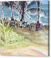 Artists By The Sea Canvas Print