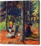 Artists In The Woods Canvas Print