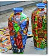 Artwork Large Vase Canvas Print