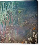 Artwork Representing The Disappeared Located Under A Bridge In Buenos Aires-argentina  Canvas Print