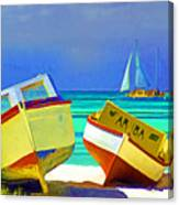 Aruba Boats Canvas Print