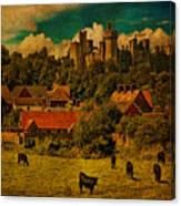 Arundel Castle With Cows Canvas Print