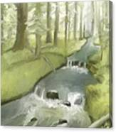 As I Sat By A Brook And Pondered Canvas Print