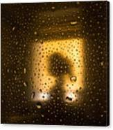 As Seen Through A Shower Door, A Girl Canvas Print
