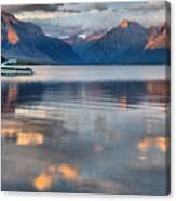 As The Day Ends At West Glacier Canvas Print
