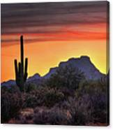 As The Sun Sets On Red Mountain  Canvas Print