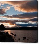 As The Sun Sets Over Loch Rannoch Canvas Print