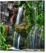 As The Water Falls Canvas Print