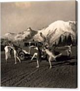 Asahel Curtis, 1874-1941, Dancing Girls At Sunrise Canvas Print