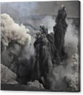Ash Cloud Eruption On Yasur Volcano Canvas Print