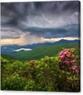 Asheville North Carolina Blue Ridge Parkway Thunderstorm Scenic Mountains Landscape Photography Canvas Print