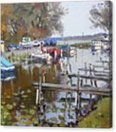 Ashville Bay Marina Canvas Print