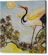 Asian Crane 3 Canvas Print