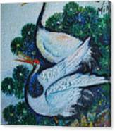 Asian Cranes 1 Canvas Print