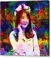 Asian Girl With Crown  Canvas Print