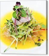 Asian Korean Fusion Fresh Prawn Salad Canvas Print