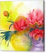 Asian Peonies Canvas Print