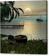 Asian Sunset Scene Canvas Print