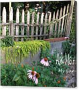 Ask Me About My Garden Canvas Print