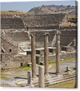 Asklepion Columns And Amphitheatre Canvas Print