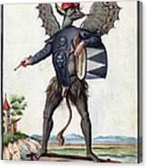 Asmodeus, King Of Demons, 18th Century Canvas Print