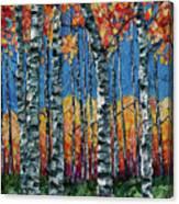 Aspen Grove By Olena Art Canvas Print