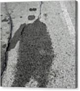 Asphalt Man Canvas Print