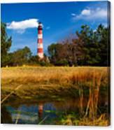 Assateague Lighthouse Reflection Canvas Print