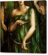 Astarte Syriaca Dante Gabriel Rossetti Canvas Print