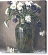 Asters And Daisies Canvas Print