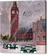 Aston Martin Racing In London Canvas Print