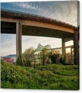 Astoria Bridge Sunrise Canvas Print