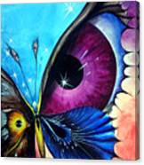 Astral Butterfly. Soul - Memory - Mind Canvas Print