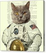 Astronaut Cat Illustration Canvas Print