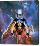 Astronaut Disintegration Canvas Print