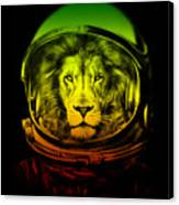 Astronaut Lion Colorful Ready For Space Canvas Print