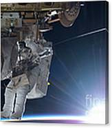 Astronaut Terry Virts Eva Canvas Print