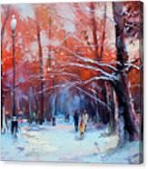 At Dawn On Tverskoy Boulevard Canvas Print
