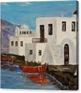 At Home In Greece Canvas Print
