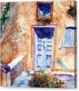 At Home In Santorini Greece  Canvas Print