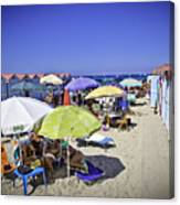 At Mondello Beach - Sicily Canvas Print
