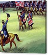 At Saratoga The Colonists Won Victory Canvas Print
