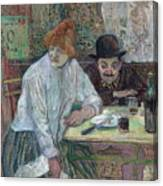 At The Cafe La Mie About 1891 Canvas Print