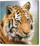 At The Center - Tiger Art Canvas Print