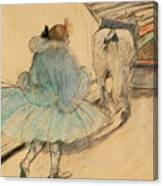 At The Circus Entering The Ring 1899 Canvas Print
