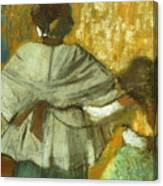 At The Couturier, The Fitting Canvas Print