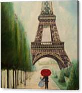 At The Eiffel Tower Canvas Print