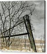 At The End...fence Post Canvas Print