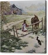 At the Farm Canvas Print