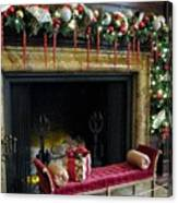 At The Hearth Of Christmas Canvas Print